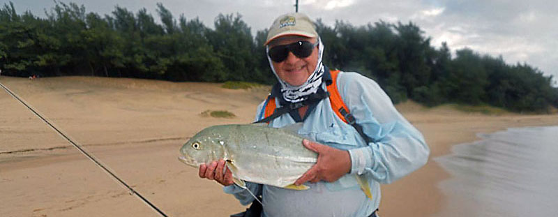 Steve Brookes with an awesome brassy kingfish