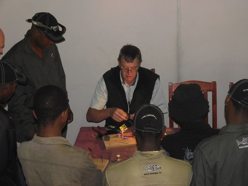 Jay teaching the Tendele community